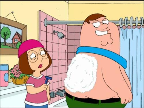 family guy, Peter and Meg