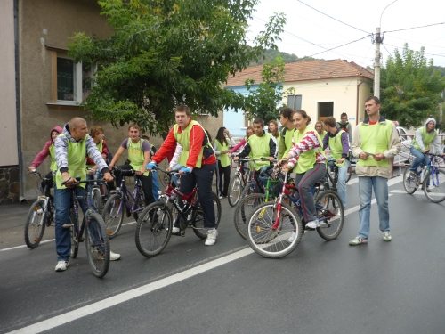 The bike saves the planet!-campaign in Simleu Silvaniei, Romania