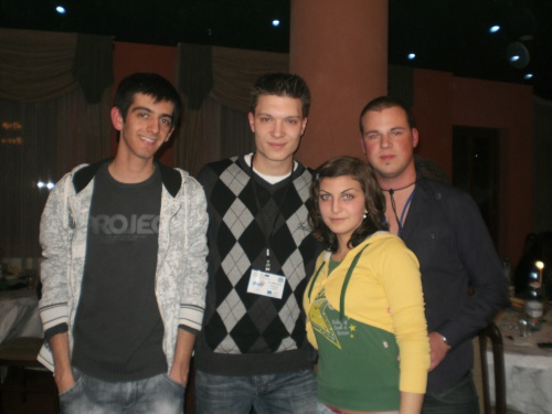 Me and muy friends in Simleu Silvaniei, Romania