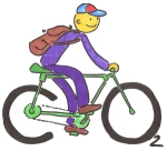 Logo for The bike saves the planet!-campaign in Simleu Silvaniei, Romania