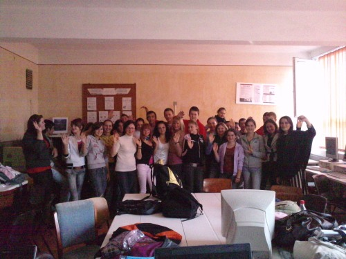 "The CREW students at The Technical College ""Iuliu Maniu"""