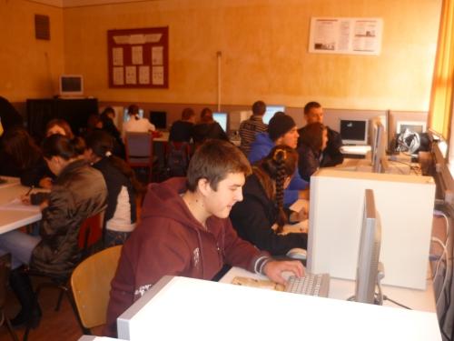 "Romanian Students at The Technical College ""Iuliu Maniu"" in Simleu Silvaniei working at the scientists list"