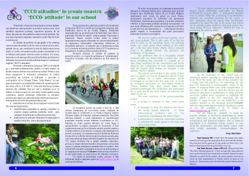 """The Technical College Iuliu Maniu's school magazin – """"School Events"""", a Comenius project, pages 6 and 7"""