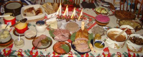 The Swedish Christmas dinner (Smörgåsbord) - - a file from the Wikimedia Commons
