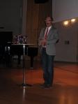 Headmasters' speech on Christmas end 2009 at Anderstorpsskolan in Skellefteå, Sweden