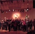 Anderstorpsskolans' teachers had sung a Christmas holiday song to our students.