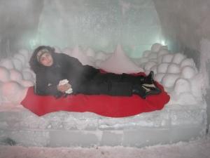 Bedroom at Ice Hotel, Bâlea Lake