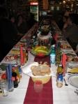 New Year's dinner table Bâlea Lake, in the Făgăraş Mountains, Romania