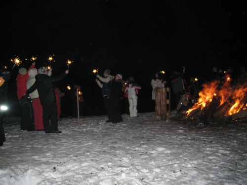 New Year's Day at the Bâlea Lake in the Făgăraş Mountains, Romania