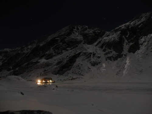 Bâlea Lake at night