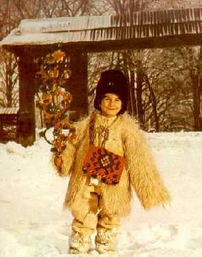 A cherished New Year tradition in Romania is the sorcova that is wished by the children