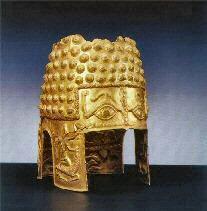 Gold helmets