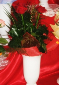 A beautiful bouquet of red roses
