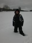 Andrea B. in snow - Skellefteå, Sweden