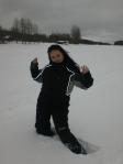 Paula in snow - Skellefteå, Sweden