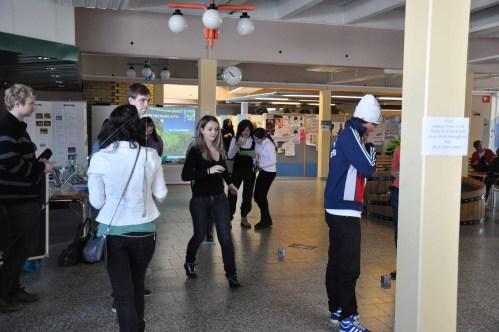 The World Water Day in the central hall at Anderstorpsskolan in Skellefteå, Sweden