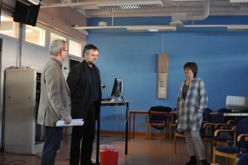 Stefan Lundgren, Jan Midlert and Christina Soldan talking