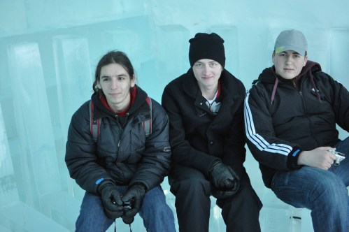 The Swedish and Romanian CREW at the Artic Circle, Sweden