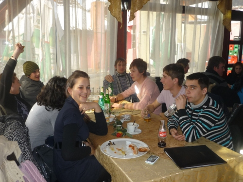 8th March in Iuliu Maniu Technical School, Romania. I went out with my class for a pizza.