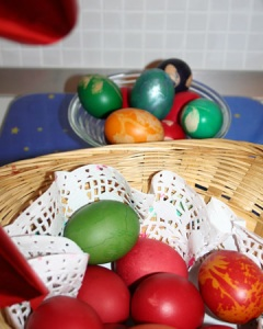 Romanian coloured Easter eggs