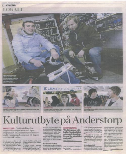 Cultural Exchange at Anderstorpsskolan in Skellefteå, Sweden