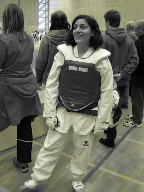 Andrea Soldan, SPSK3-student  at Anderstorpsskolan in Skellefteå, Sweden, won gold in her weight class, District Championship 2010, taekwondo