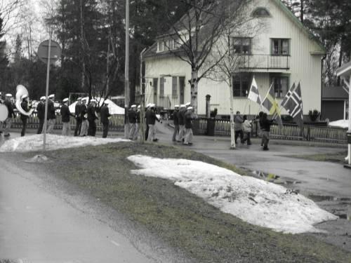 The 1th May 2010 demonstration in Skelleftehamn, Sweden