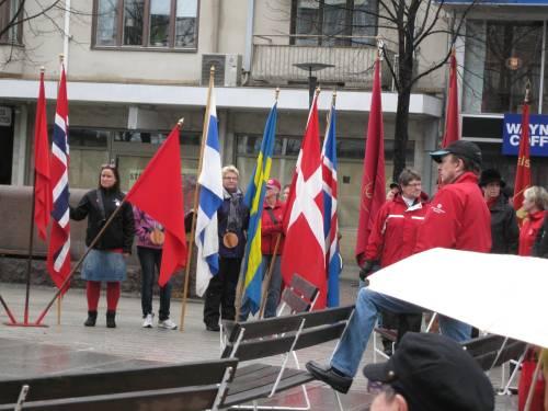 The 1th May 2010 demonstration in Skellefteå, Sweden