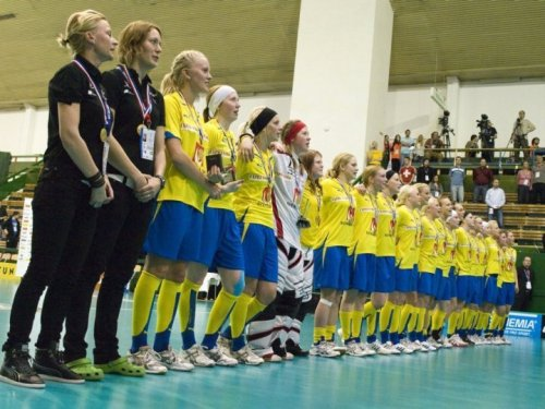 Sweden won the gold in the Women's World Floorball Championship 2010. The Anderstorpsskolan contributed with Frida Norström,  Spid3b. Congratulations, Frida! <3