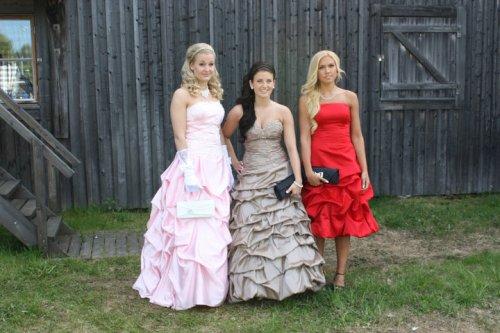 Linn Björnstad, Ida Söderström and Amanda Holmqvist at the Student Ball 2010 - Anderstorpsskolan in Skellefteå, Sweden