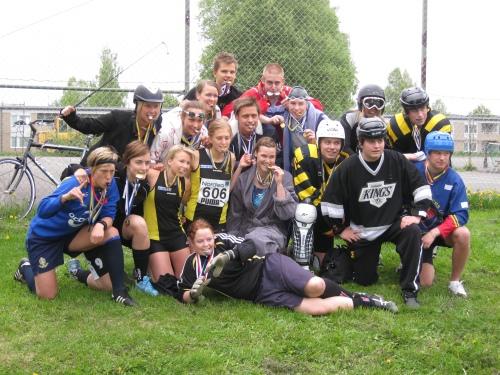 SPID4 was wearing their sports clothes at Anderstorpsskolan's Day 2010 in Skellefteå, Sweden