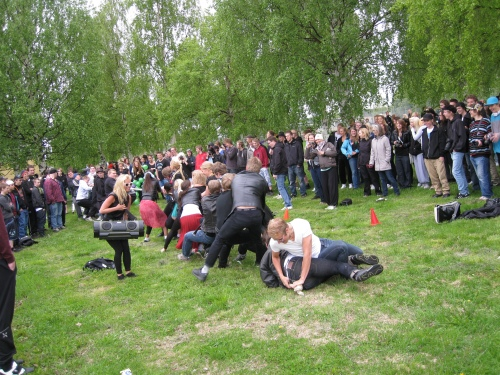 Students in SPFL3 climbed limits in FP3 at Anderstorpsskolan's Day 2010 in Skellefteå, Sweden