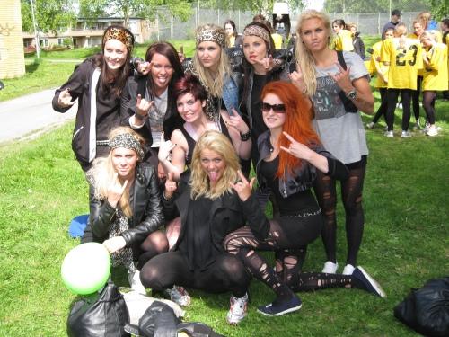 The SPID3b-girls at Anderstorpsskolan's Day 2010 in Skellefteå, Sweden