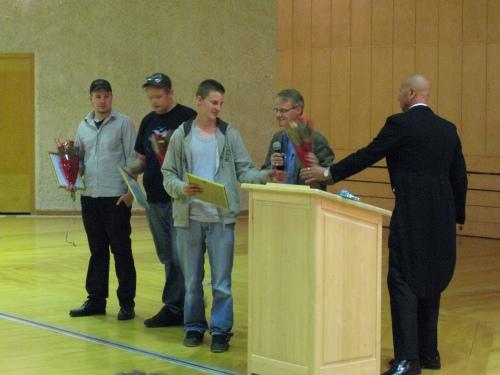 Scholarships 2010 at Anderstorpsskolan in Skellefteå, Sweden (Vehicle Branch)