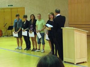 Scholarships 2010 at Anderstorpsskolan in Skellefteå, Sweden (Good study-results)
