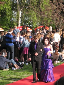 Jonas Ögren and Felicia Vikberg at the Student Ball 2010 - Anderstorpsskolan in Skellefteå, Sweden