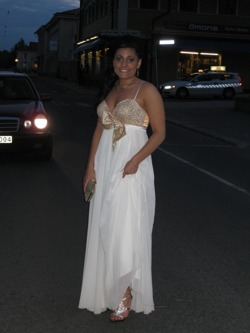 Andrea Soldan at the Student Ball 2010 - Anderstorpsskolan in Skellefteå, Sweden