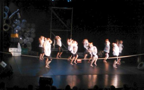 """Aesthetic Dance programme year 3 at Anderstorpsskolan presented the dance performance """"What lies at the dump?"""""""