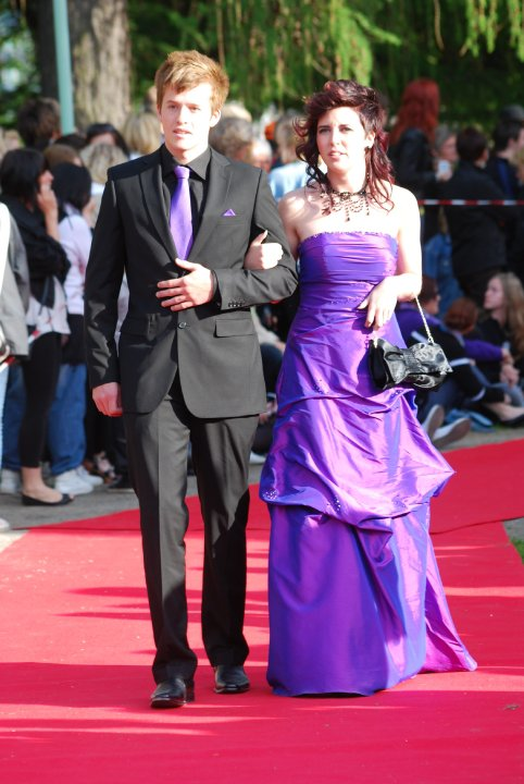 Felicia Vikberg and Jonas Ögren Frida Norström at the Student Ball 2010 - Anderstorpsskolan in Skellefteå, Sweden