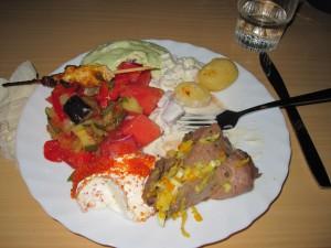 Traditional lunch with summer dish at Anderstorpsskolan in Skellefteå, Sweden