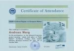 Andreas Warg, student on SPID-programme at Anderstorpsskolan in Skellefteå, Sweden - Certificate of Attendance at CREW-meeting in Romania