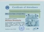 William Grenholm, student on SPID-programme at Anderstorpsskolan in Skellefteå, Sweden - Certificate of Attendance at CREW-meeting in Romania