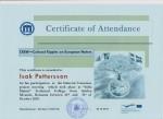 Isak Pettersson, student on SPID-programme at Anderstorpsskolan in Skellefteå, Sweden - Certificate of Attendance at CREW-meeting in Romania