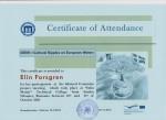 Elin Forsgren, student on SPID-programme at Anderstorpsskolan in Skellefteå, Sweden - Certificate of Attendance at CREW-meeting in Romania