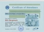 Nils Bergmark, student on SPID-programme at Anderstorpsskolan in Skellefteå, Sweden - Certificate of Attendance at CREW-meeting in Romania