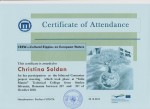 Christina Soldan, CREW coordinator and contact person, teacher of Mathematics, Swedish, Project Work, Web Design and Computer Science at Anderstorpsskolan in Skellefteå, Sweden - Certificate of Attendance for participating at the CREW-meeting in Romania
