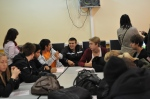 Working together with the romanians at school