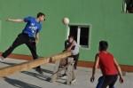 Olov playing footballtennis