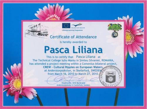 Liliana Pasca, teacher of Bioology at Technical College Iuliu Maniu - Simleu Silvaniei, Romania