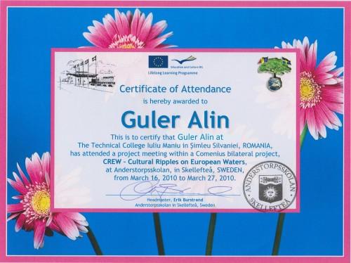 Alin Guler, teacher of Geography at Technical College Iuliu Maniu - Simleu Silvaniei, Romania